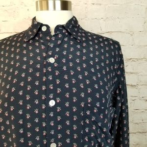 Vintage Guess Jeans Ditsy Floral Button Up Shirt